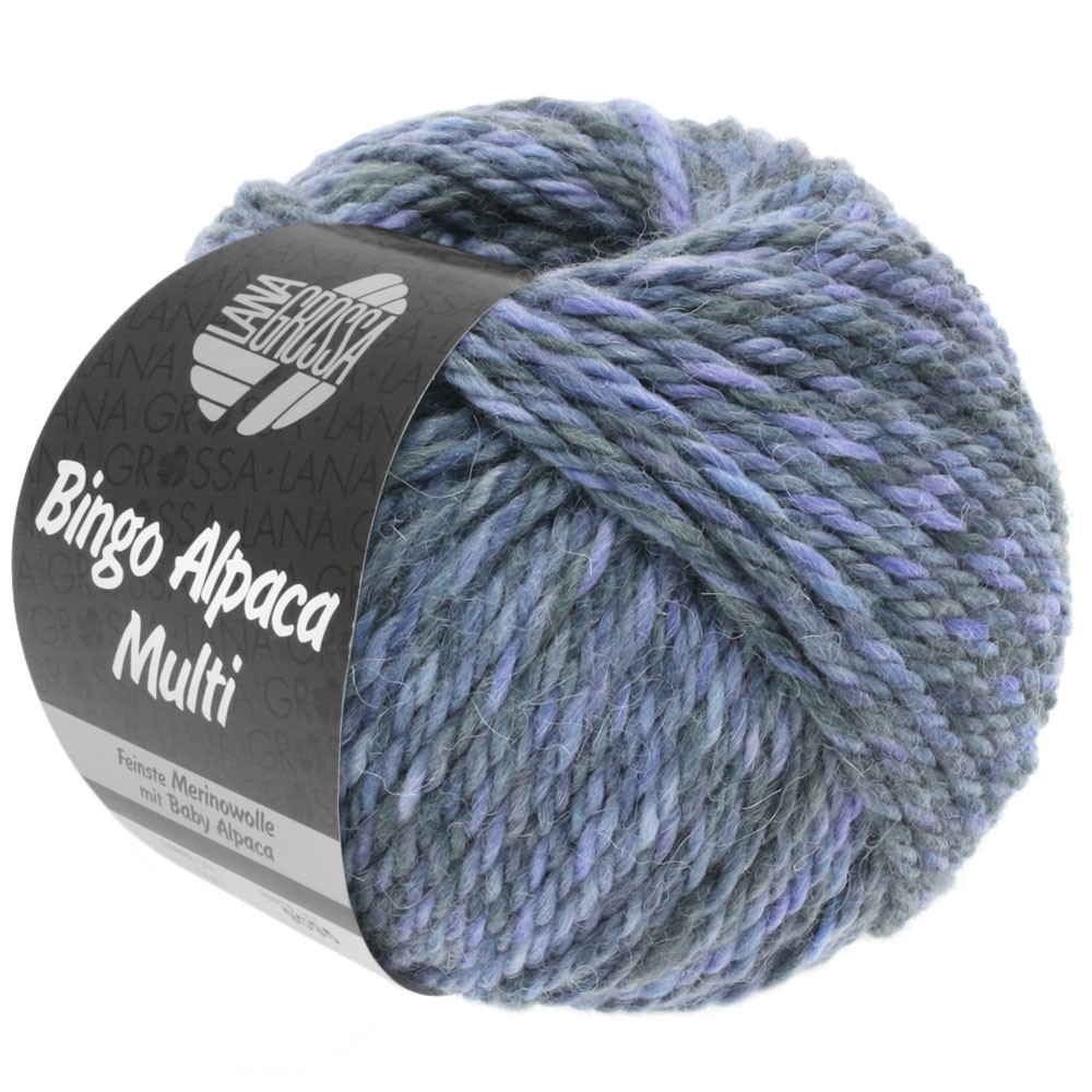 Lana Grossa BINGO ALPACA Multi | 108-пурпурный/синяя фиалка/серый/тёмно-серый