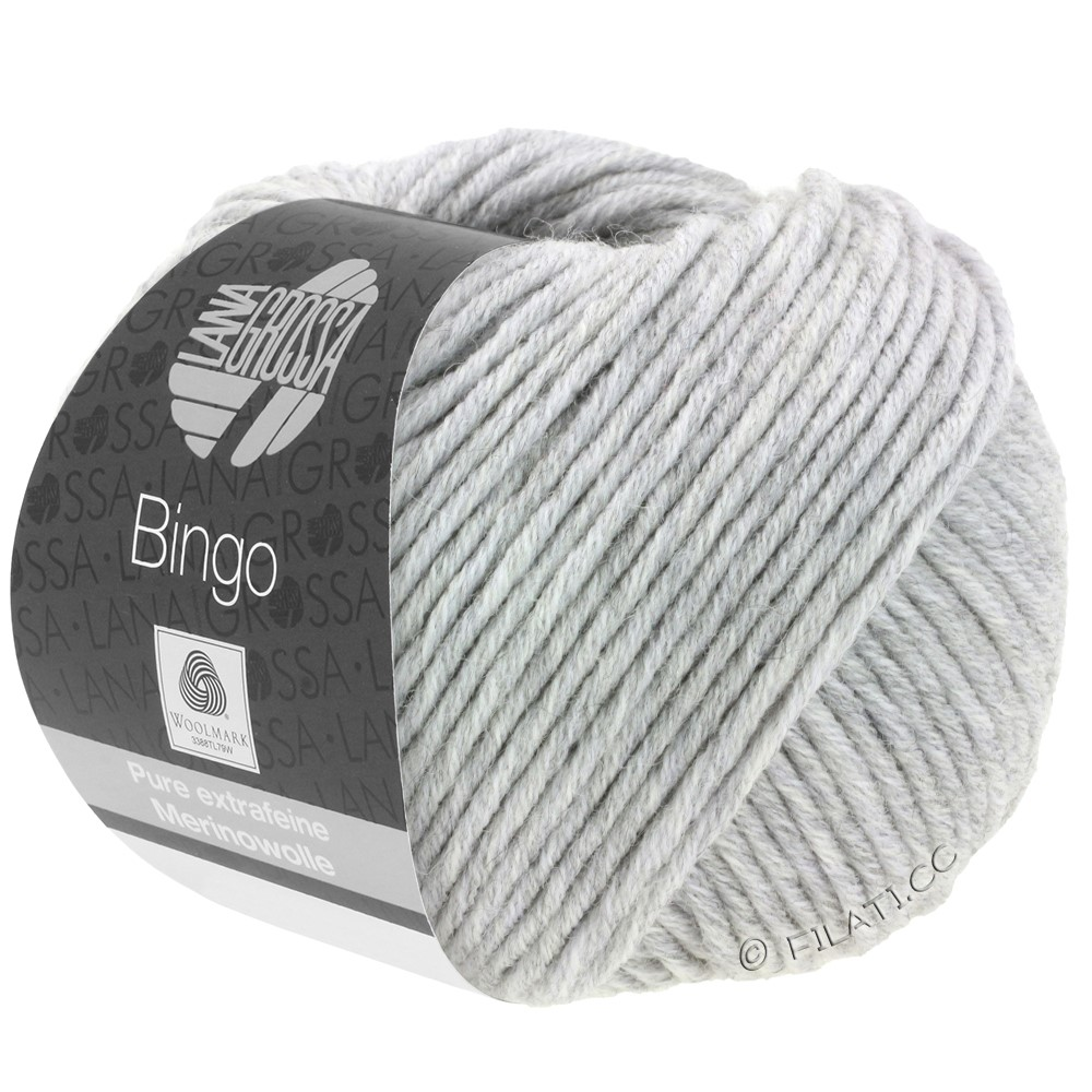 Lana Grossa BINGO  Uni/Melange/Print уни/меланж/принт | 001-светло-серый меланжевый