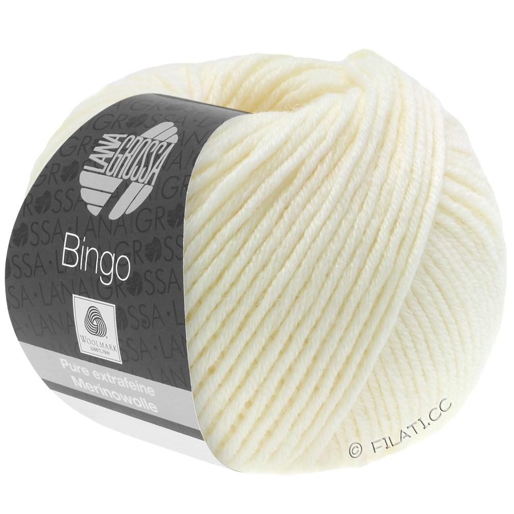 Lana Grossa BINGO  Uni/Melange/Print уни/меланж/принт | 005-чисто-белый