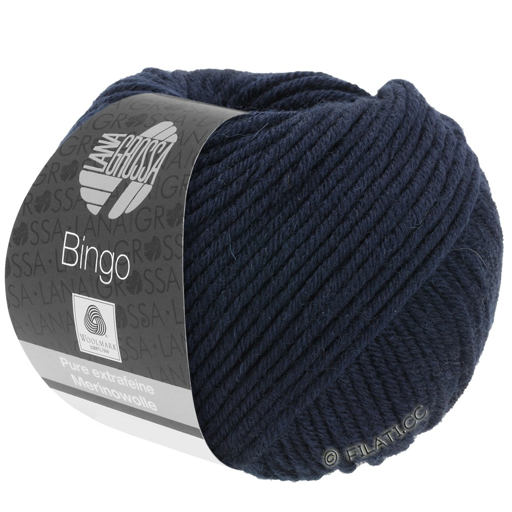 Lana Grossa BINGO  Uni/Melange/Print уни/меланж/принт | 008-тёмно-синий