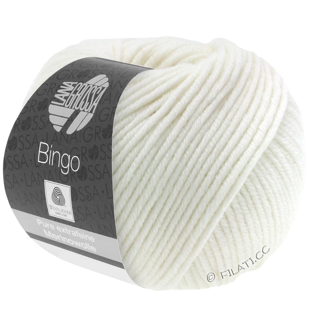 Lana Grossa BINGO  Uni/Melange/Print уни/меланж/принт | 023-белый