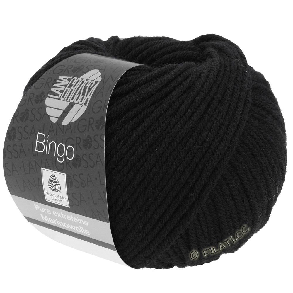 Lana Grossa BINGO  Uni/Melange/Print уни/меланж/принт | 024-чёрный