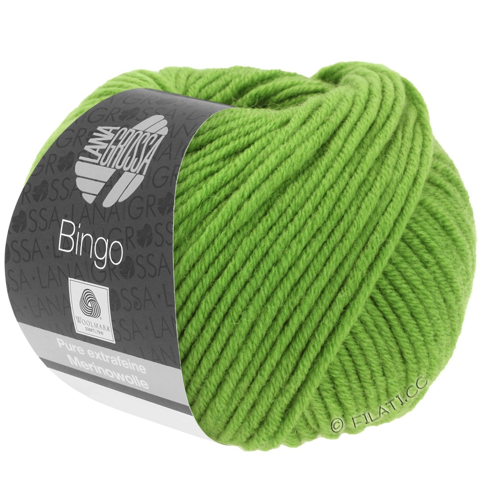 Lana Grossa BINGO  Uni/Melange/Print уни/меланж/принт | 088-зелёное яблоко
