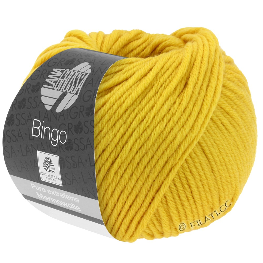 Lana Grossa BINGO  Uni/Melange/Print уни/меланж/принт | 154-желтый шафран
