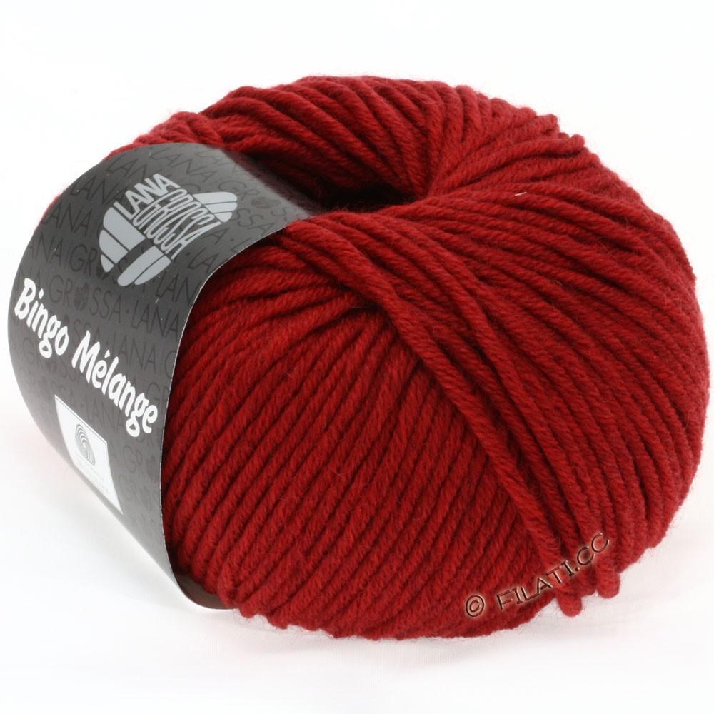 Lana Grossa BINGO  Uni/Melange/Print уни/меланж/принт | 226-тёмно-красный меланжевый