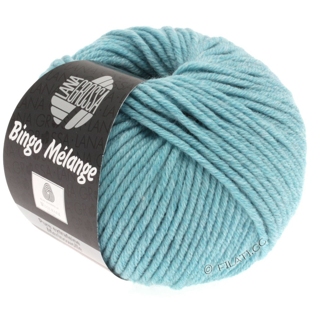 Lana Grossa BINGO  Uni/Melange/Print уни/меланж/принт | 236-светло-голубой меланжевый