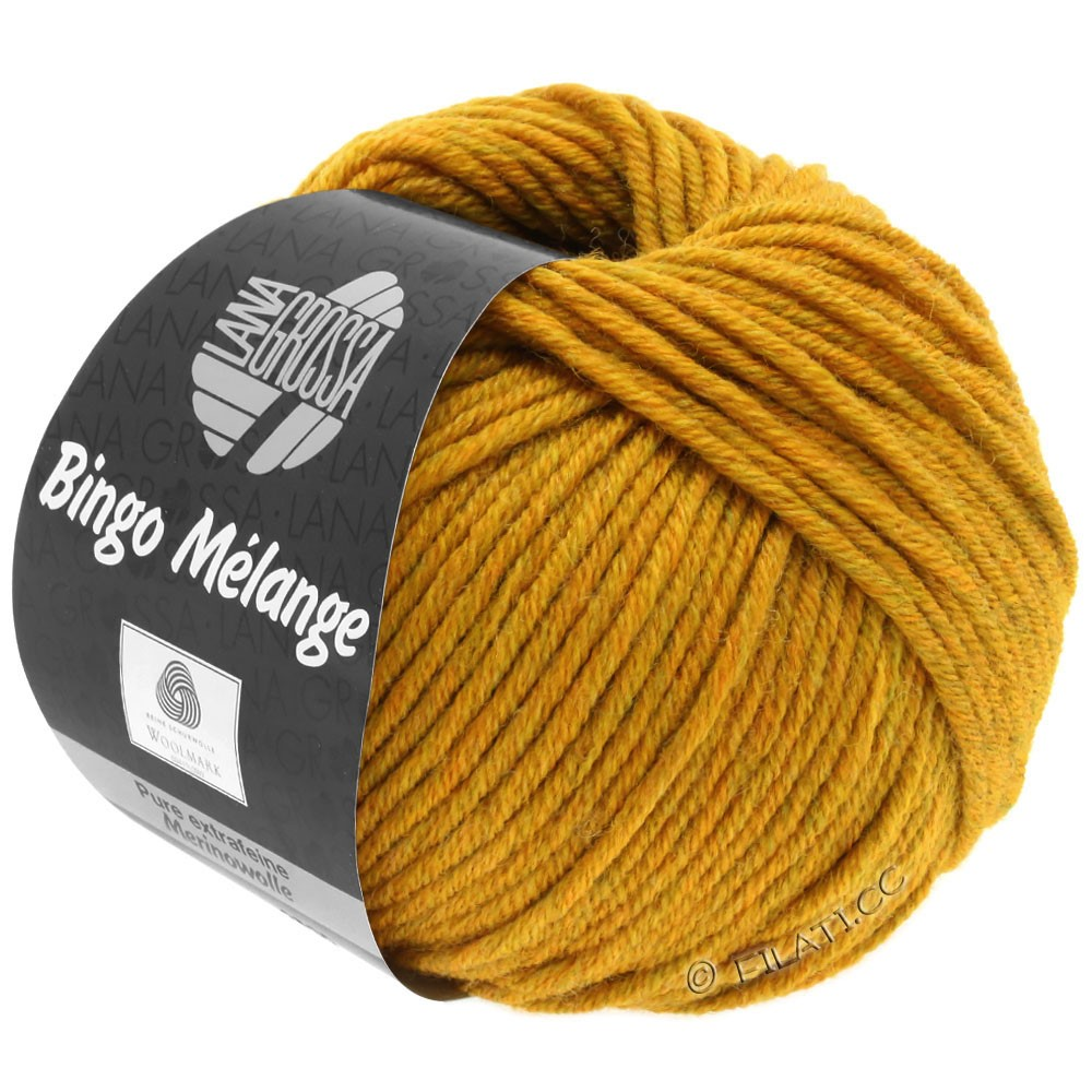 Lana Grossa BINGO  Uni/Melange/Print уни/меланж/принт | 242-горчично-желтый меланжевый