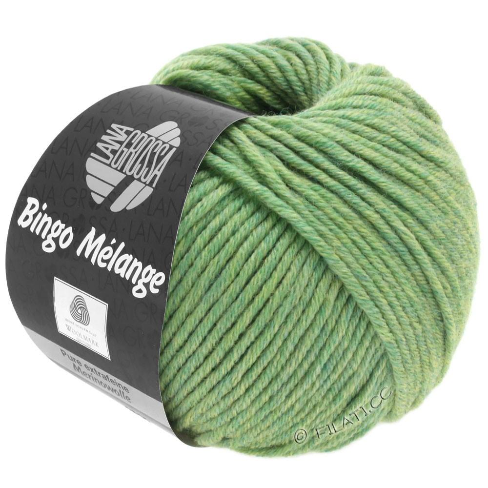 Lana Grossa BINGO  Uni/Melange/Print уни/меланж/принт | 243-светло-зелёный меланжевый