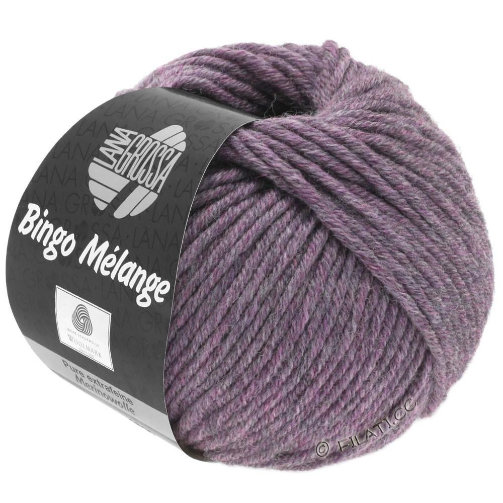 Lana Grossa BINGO  Uni/Melange/Print уни/меланж/принт | 245-старо-фиолетовый меланжевый