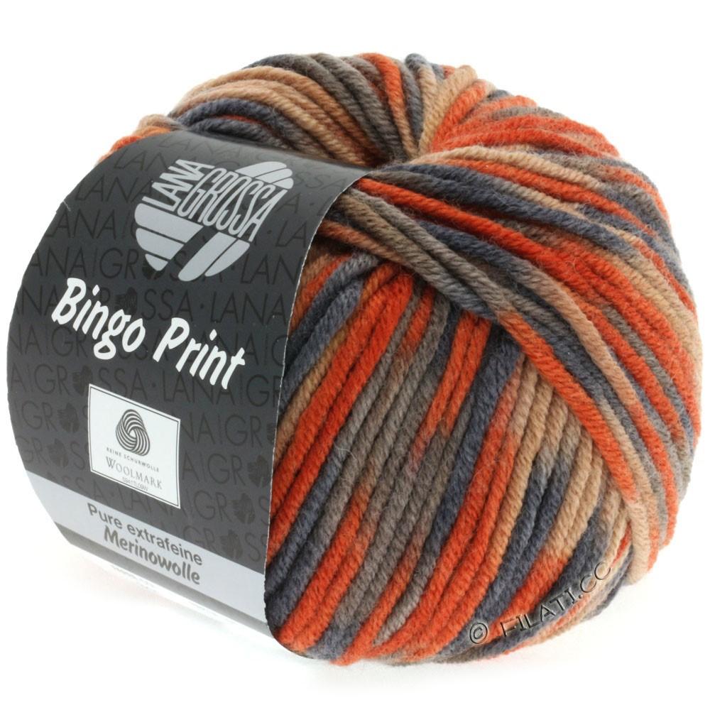 Lana Grossa BINGO Print принт | 344-легко коричневый/цвет ржавчины/серо-коричневый/антрацитовый