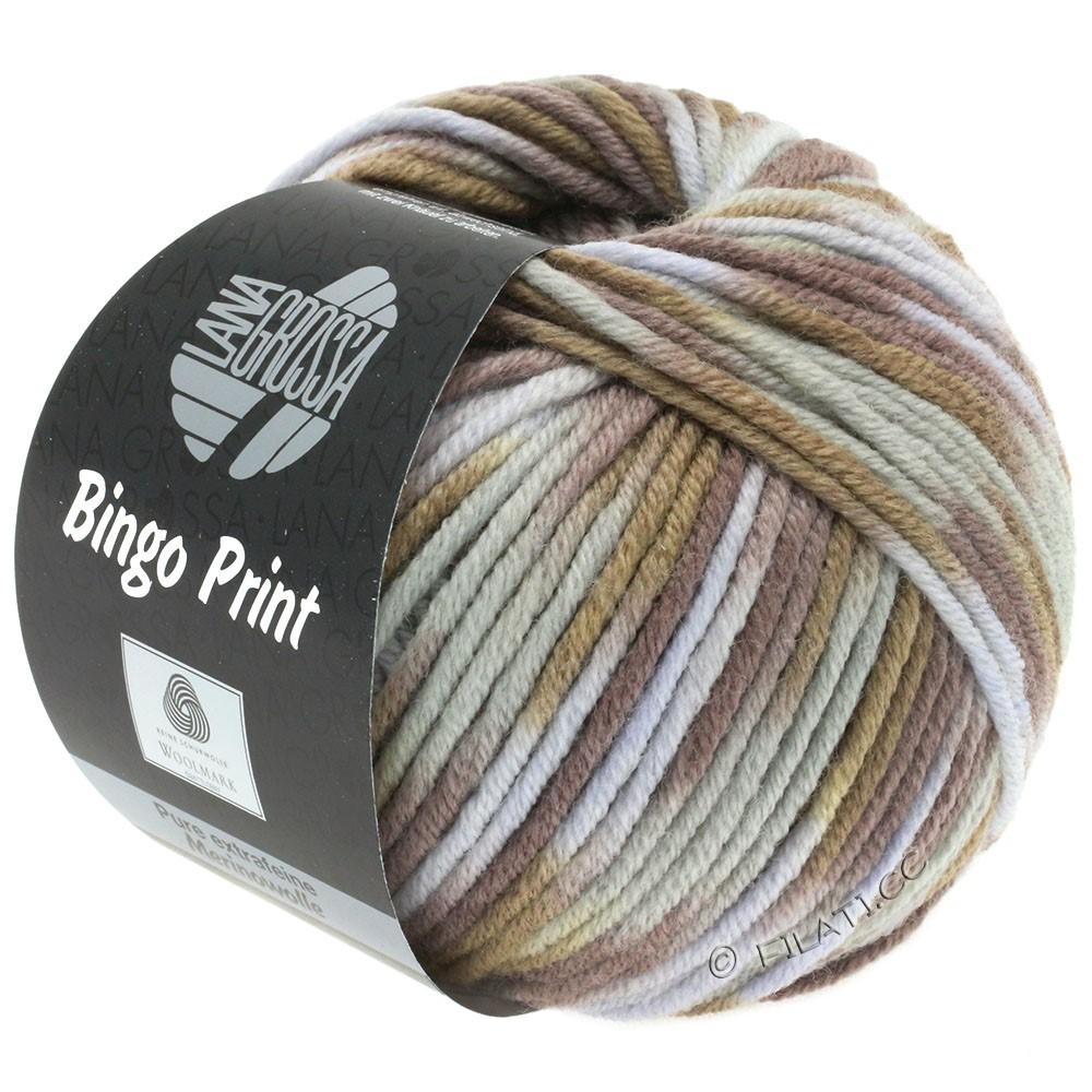 Lana Grossa BINGO  Uni/Melange/Print уни/меланж/принт | 365-серо- бежевый/бежевый/легко коричневый/серо-коричневый