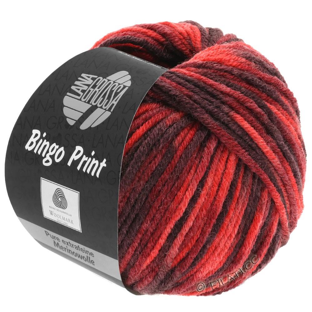 Lana Grossa BINGO  Uni/Melange/Print уни/меланж/принт | 366-красный/красное вино/бургунд