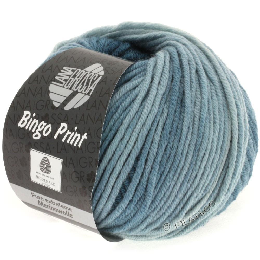 Lana Grossa BINGO Print принт | 606-светлый сине-голубой/тёмно сине-зеленый/зелено-серый