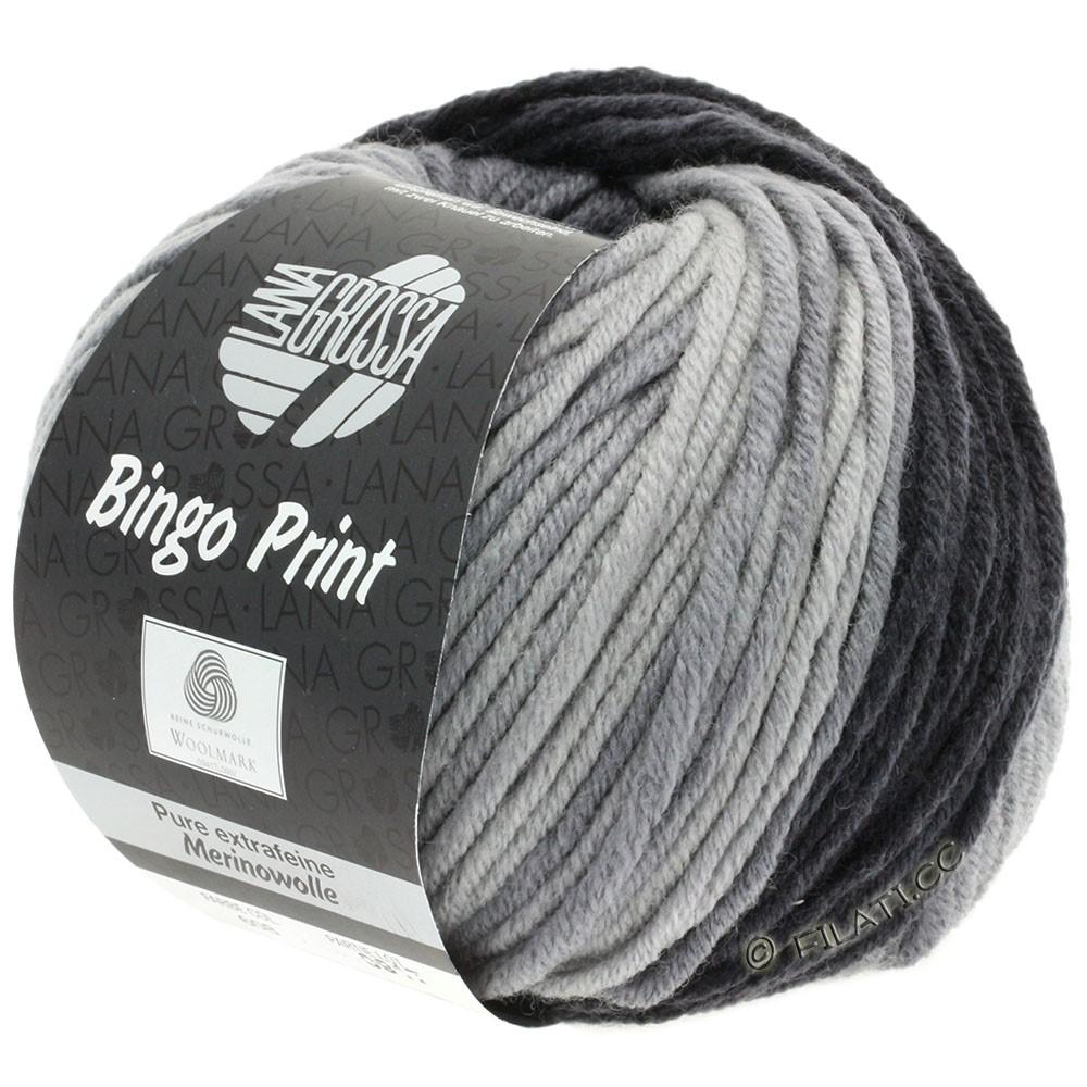 Lana Grossa BINGO  Uni/Melange/Print уни/меланж/принт | 608-средне-серый/тёмно-серый/антрацитовый
