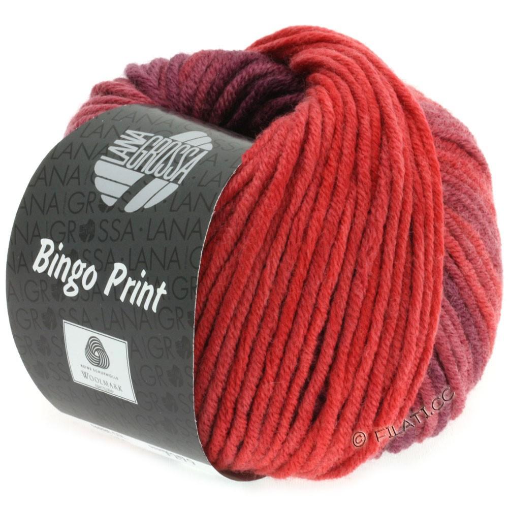 Lana Grossa BINGO  Uni/Melange/Print уни/меланж/принт | 613-кирпично-красный/бургунд/красный помидор
