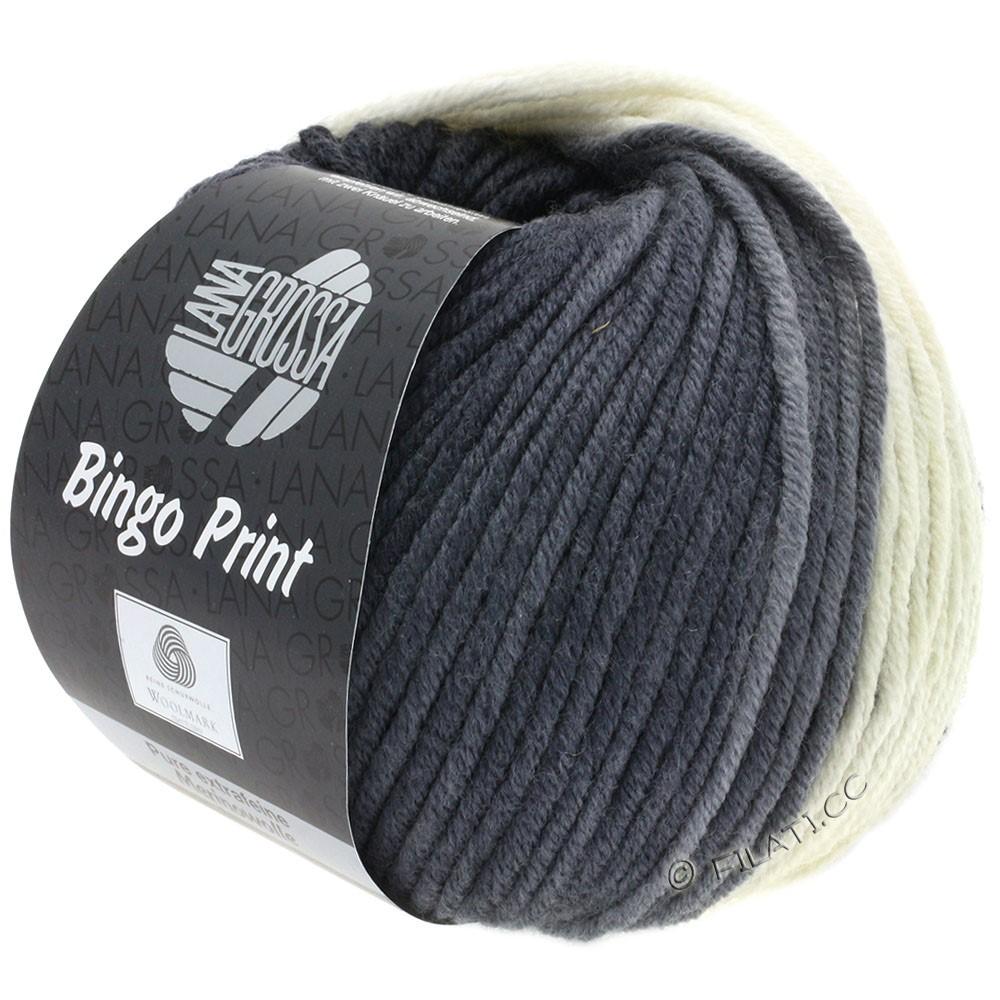 Lana Grossa BINGO  Uni/Melange/Print уни/меланж/принт | 622-серебристо-серый/средне-серый/антрацитовый