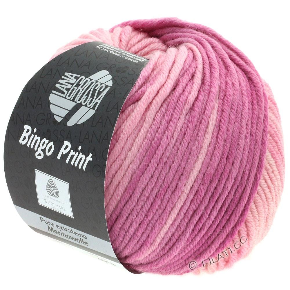 Lana Grossa BINGO  Uni/Melange/Print уни/меланж/принт | 624-мягко-розовый/вереск/ягодный