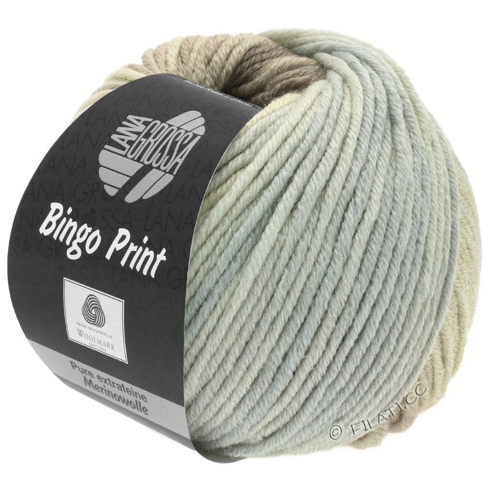 Lana Grossa BINGO  Uni/Melange/Print уни/меланж/принт | 630-натуральный/серо- бежевый/светло-серый