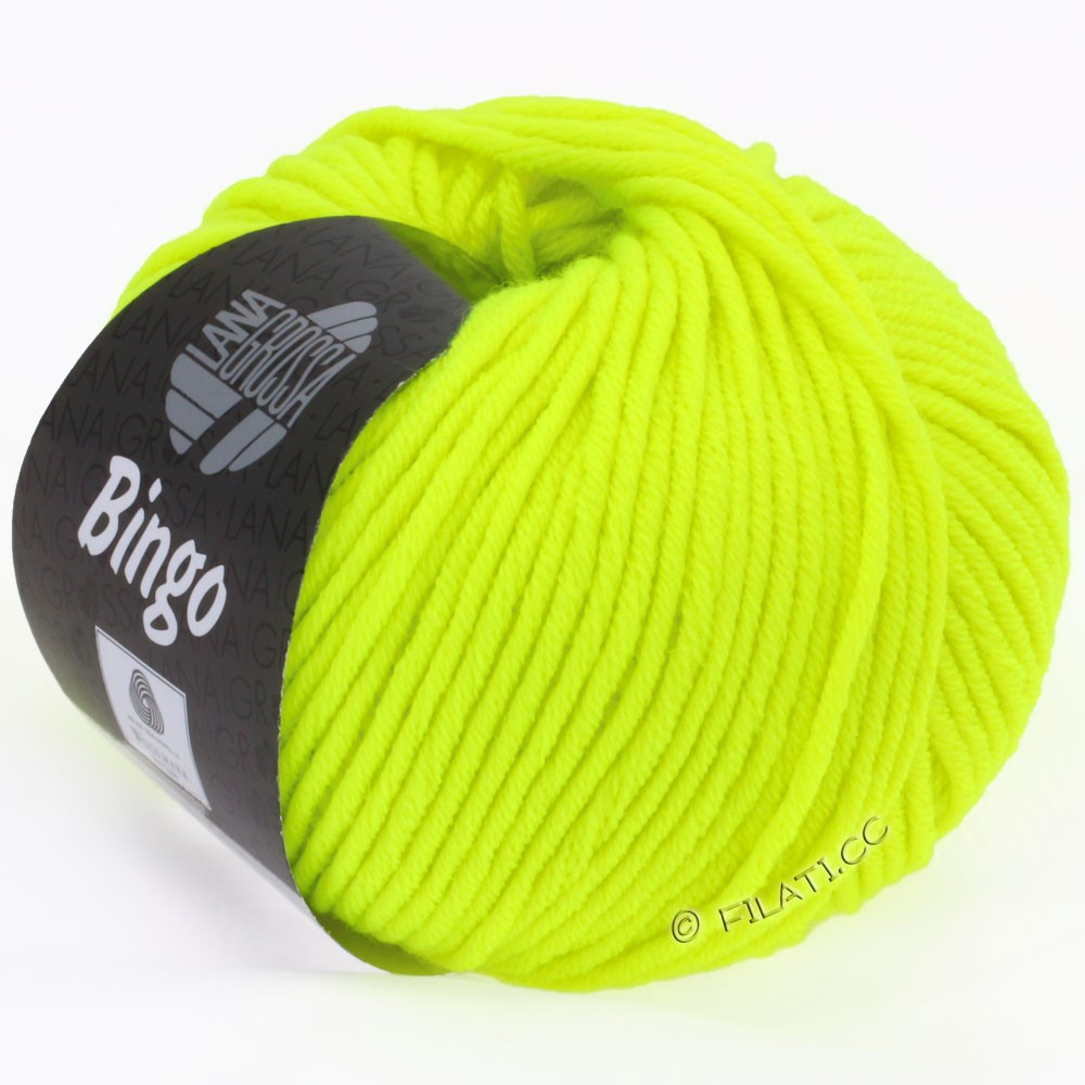 Lana Grossa BINGO  Uni/Melange/Print уни/меланж/принт | 701-неоново-жёлтый