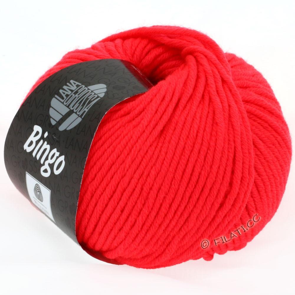 Lana Grossa BINGO  Uni/Melange/Print уни/меланж/принт | 707-неоново-красный