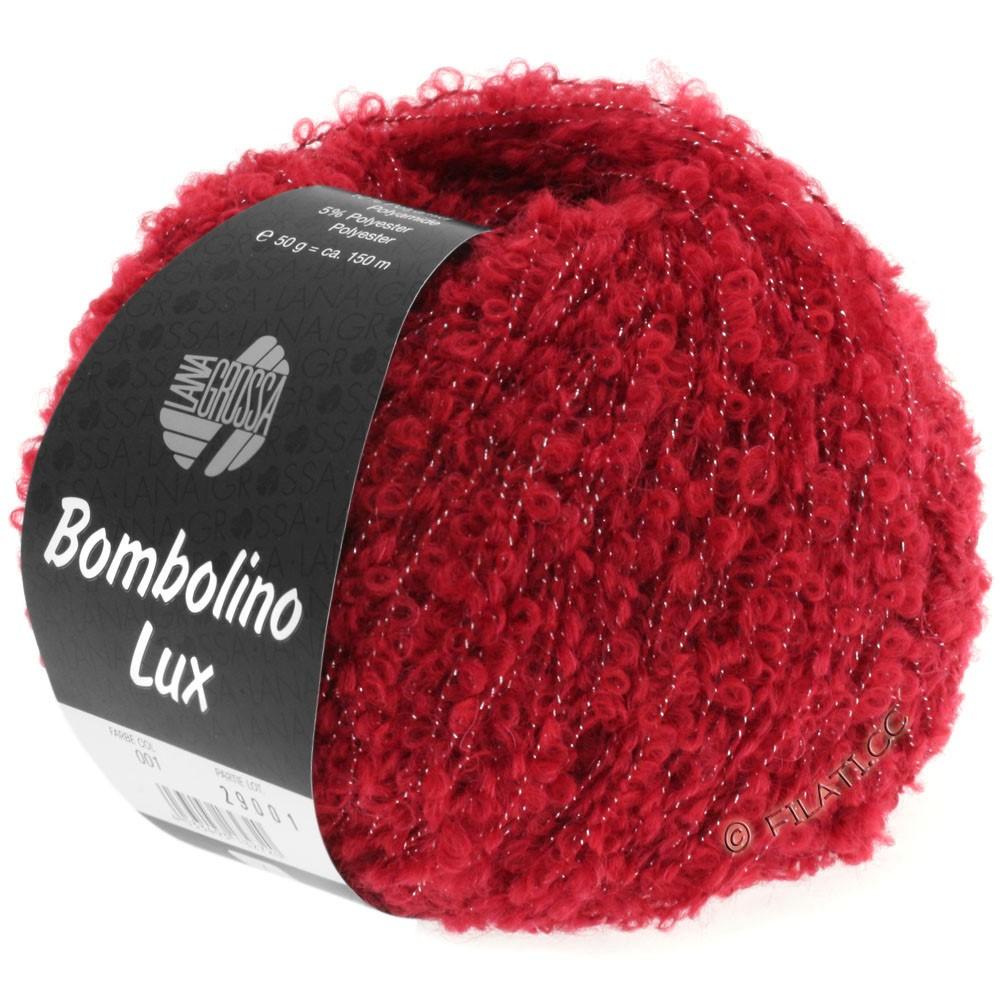 Lana Grossa BOMBOLINO Lux | 001-красный/серебряный