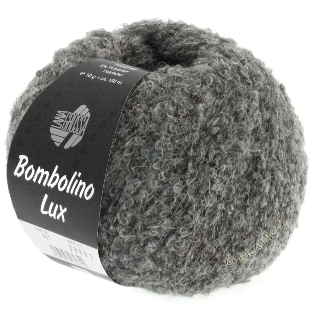 Lana Grossa BOMBOLINO Lux | 011-серый/медь