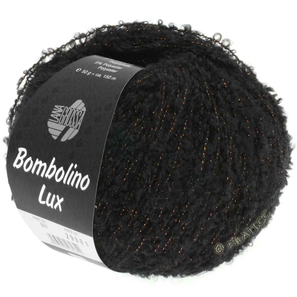 Lana Grossa BOMBOLINO Lux | 013-чёрный/медь
