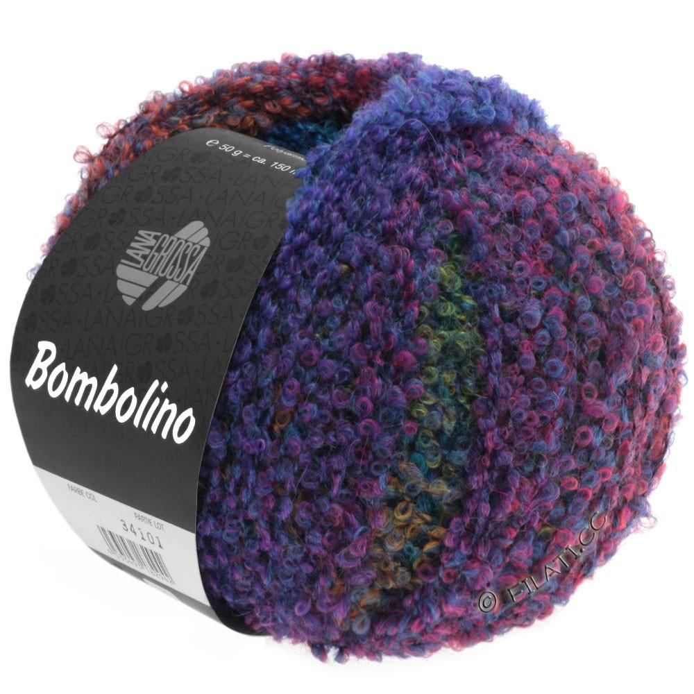 Lana Grossa BOMBOLINO Degradé | 101-синий/пурпурный/изумрудный/светло-красный