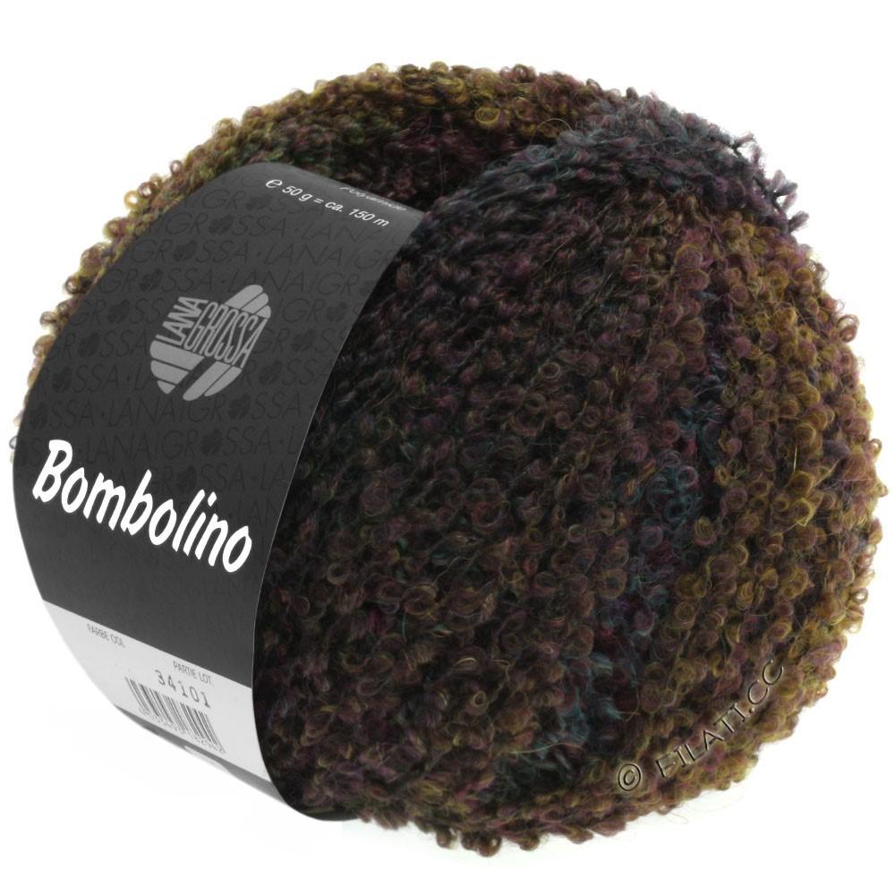 Lana Grossa BOMBOLINO Degradé | 102-коричневый/хаки/бирюзовый/петроль