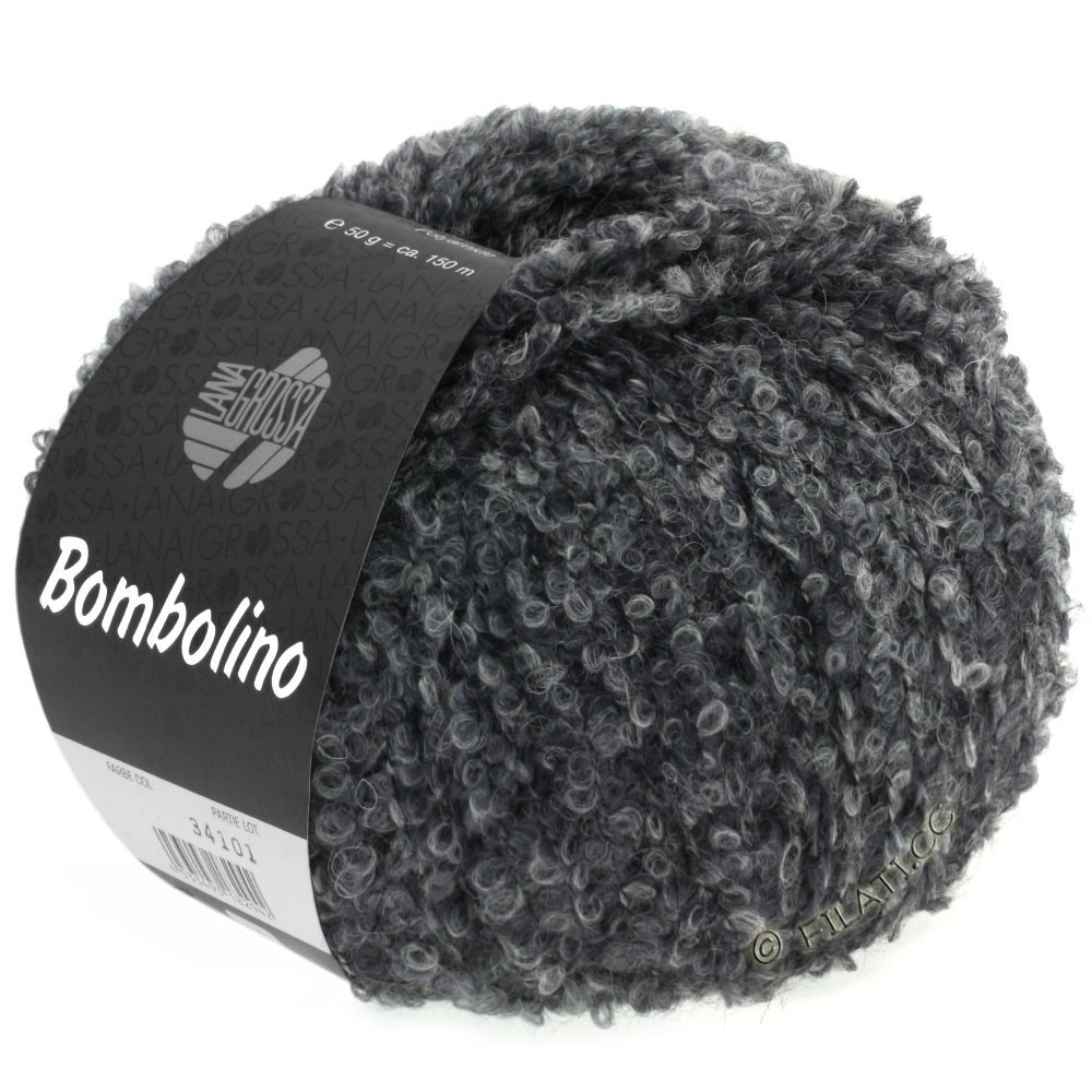 Lana Grossa BOMBOLINO Degradé | 105-светло-серый/серый/антрацитовый