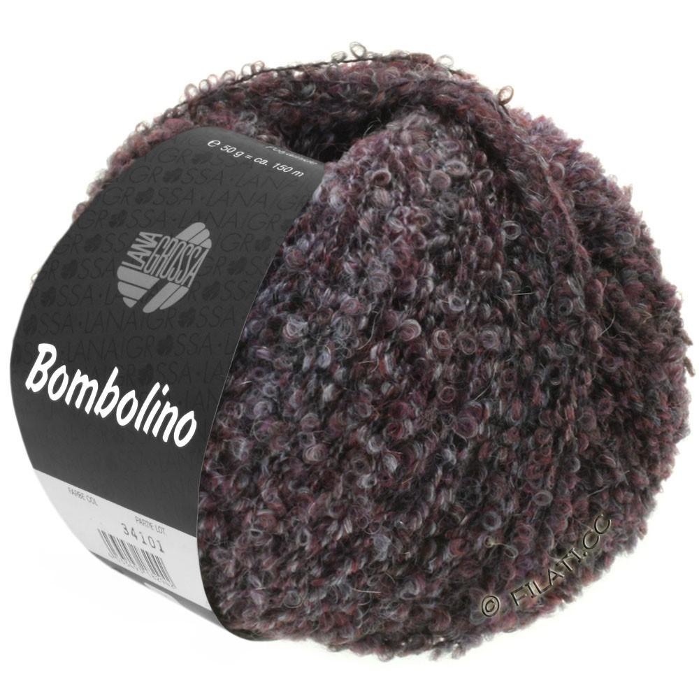 Lana Grossa BOMBOLINO Degradé | 106-серый/антрацитовый/бургунд