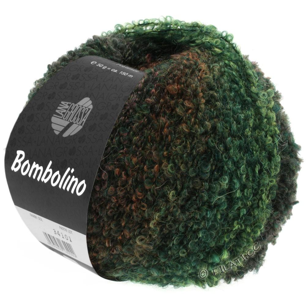 Lana Grossa BOMBOLINO Degradé | 109-зелёный/пихта/красно-коричневый
