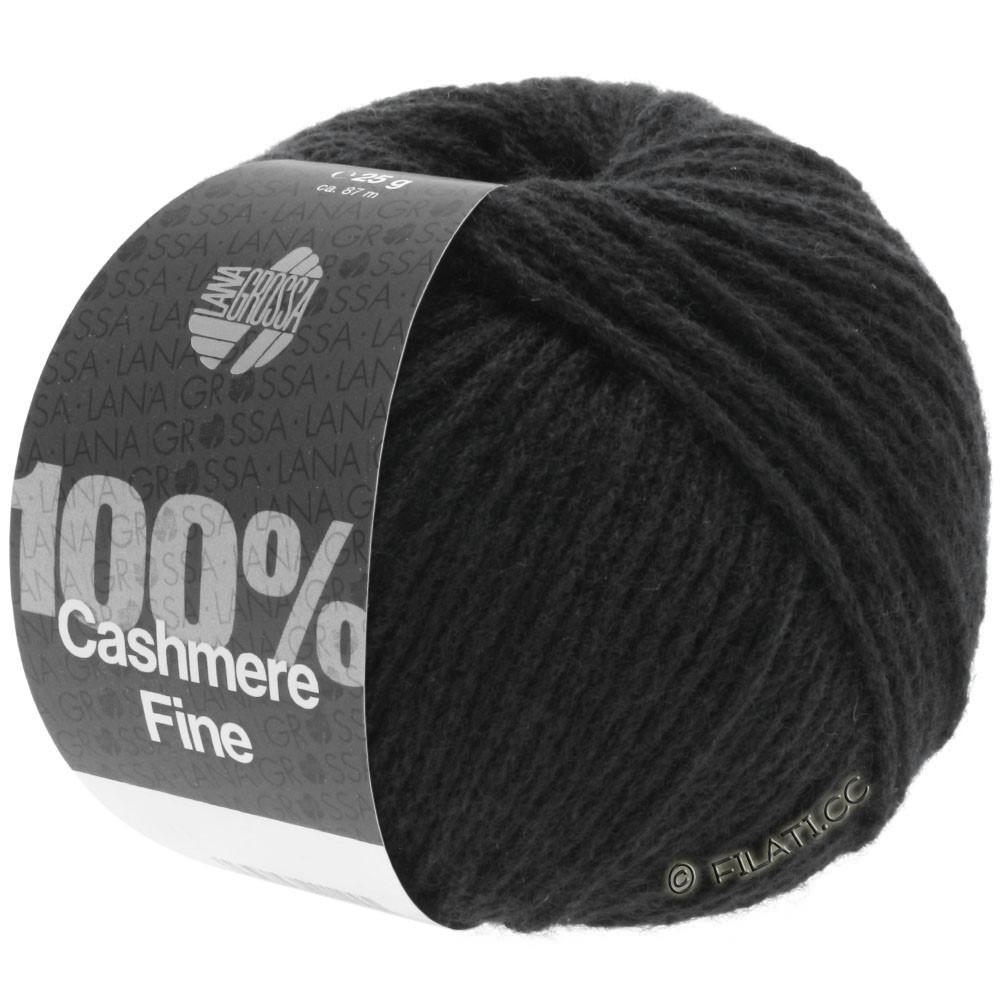 Lana Grossa 100% Cashmere Fine | 17-чёрный