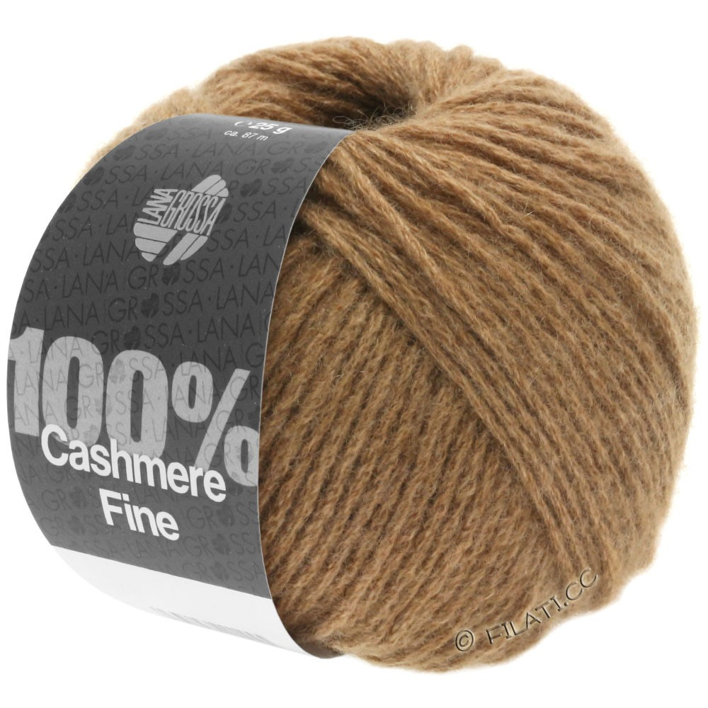 Lana Grossa 100% Cashmere Fine | 20-легко коричневый