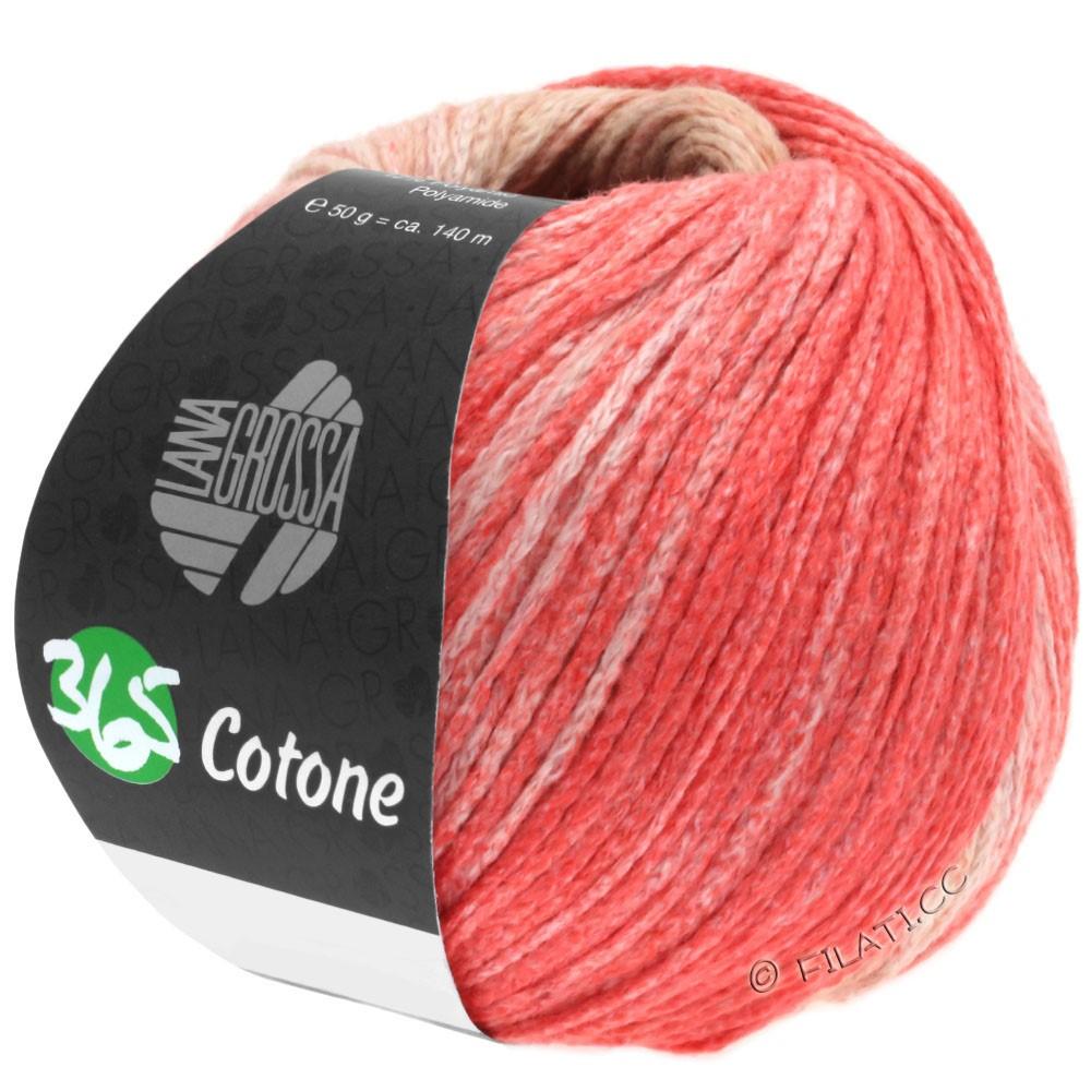 Lana Grossa 365 COTONE Degradé | 101-бежевый/легко коричневый/лосось розовый/красный