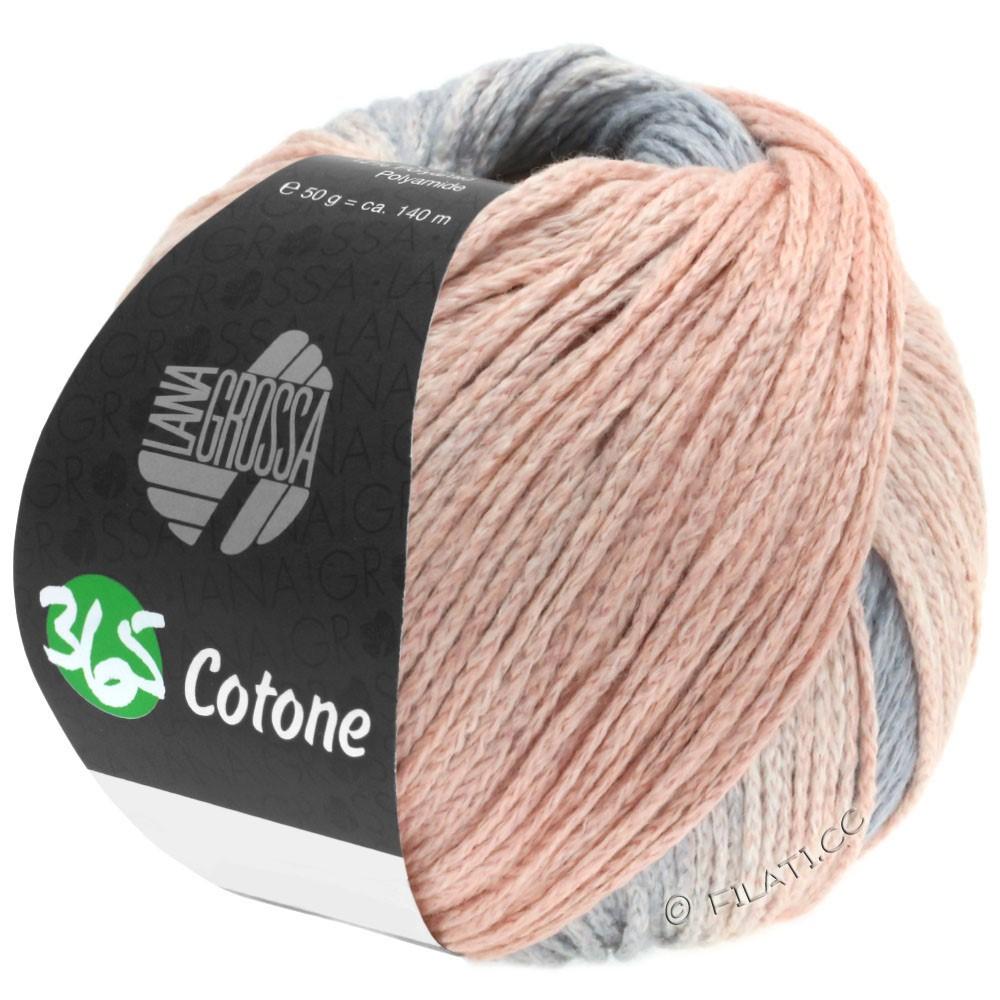 Lana Grossa 365 COTONE Degradé | 102-светло-серый/серый/персик/красный обожженной глины