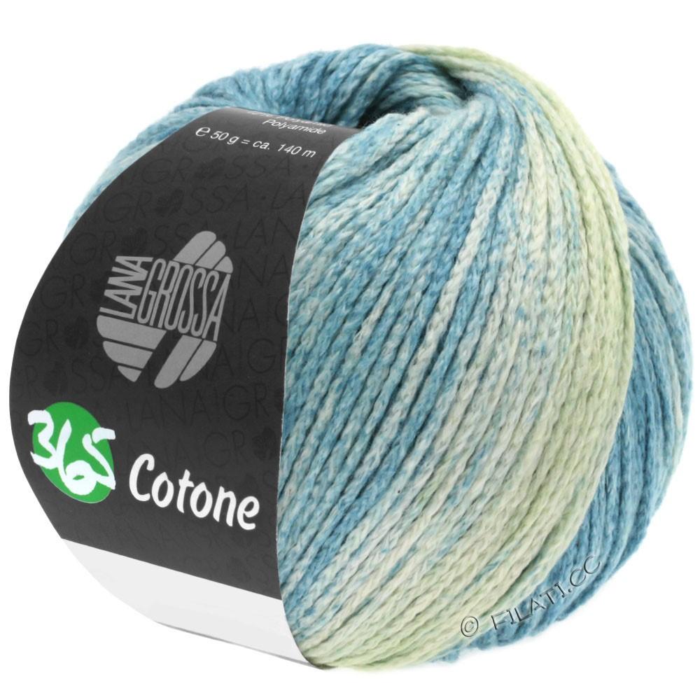 Lana Grossa 365 COTONE Degradé | 103-мягко-зеленый/серо-зеленый/светлый сине-голубой/тёмно сине-зеленый