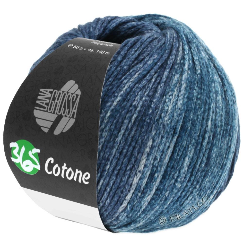 Lana Grossa 365 COTONE Degradé | 106-серый/серо-голубой/петроль серый/чёрно-синий