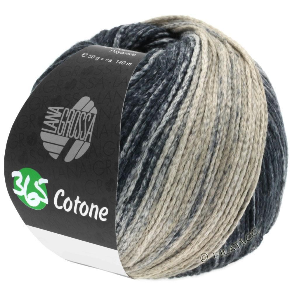 Lana Grossa 365 COTONE Degradé | 107-серо- бежевый/бежевый серый/антрацитовый/чёрный
