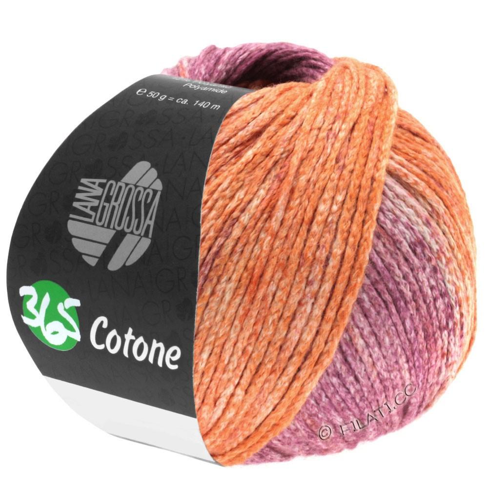 Lana Grossa 365 COTONE Degradé | 108-персик/терра/фиолетовый