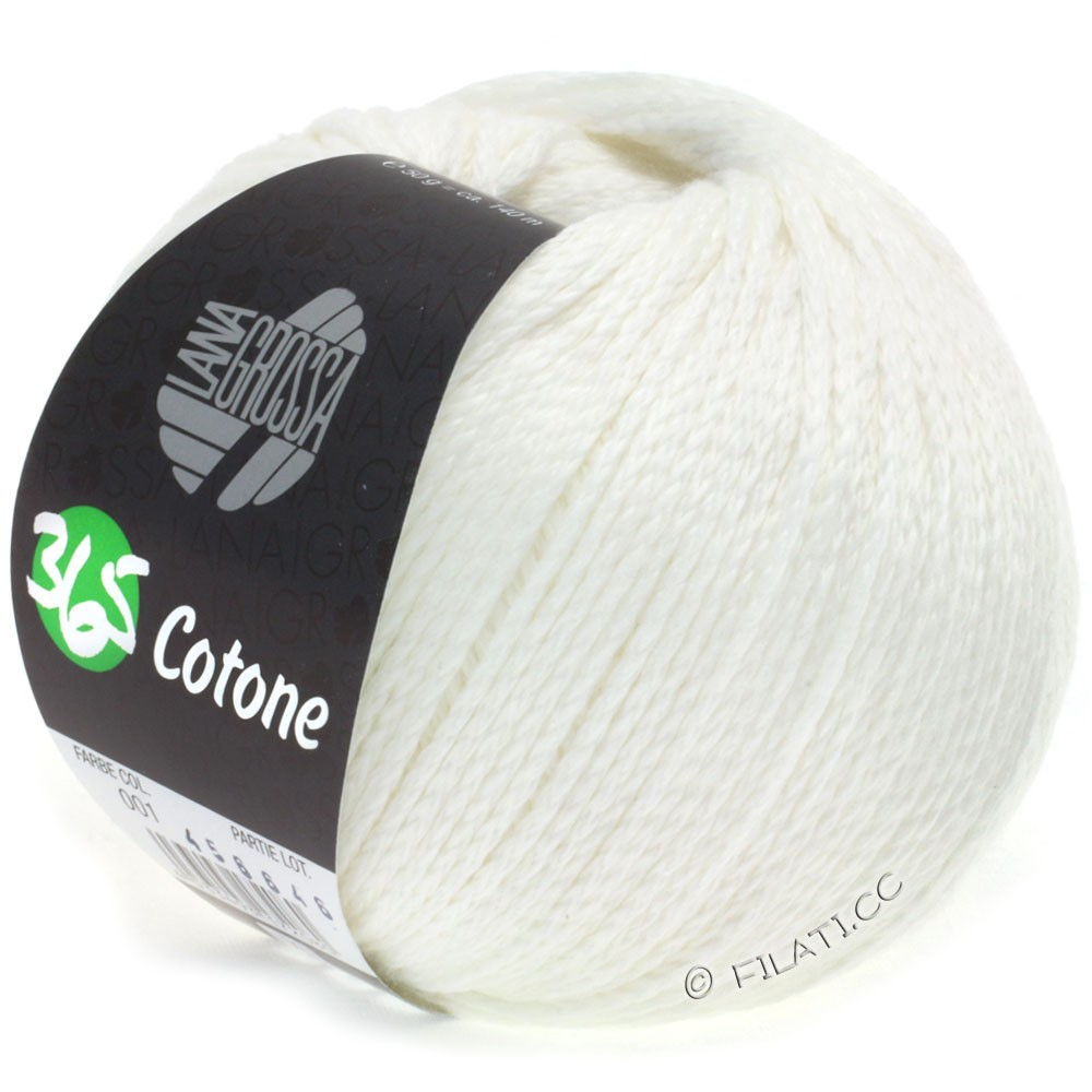 Lana Grossa 365 COTONE | 01-белый