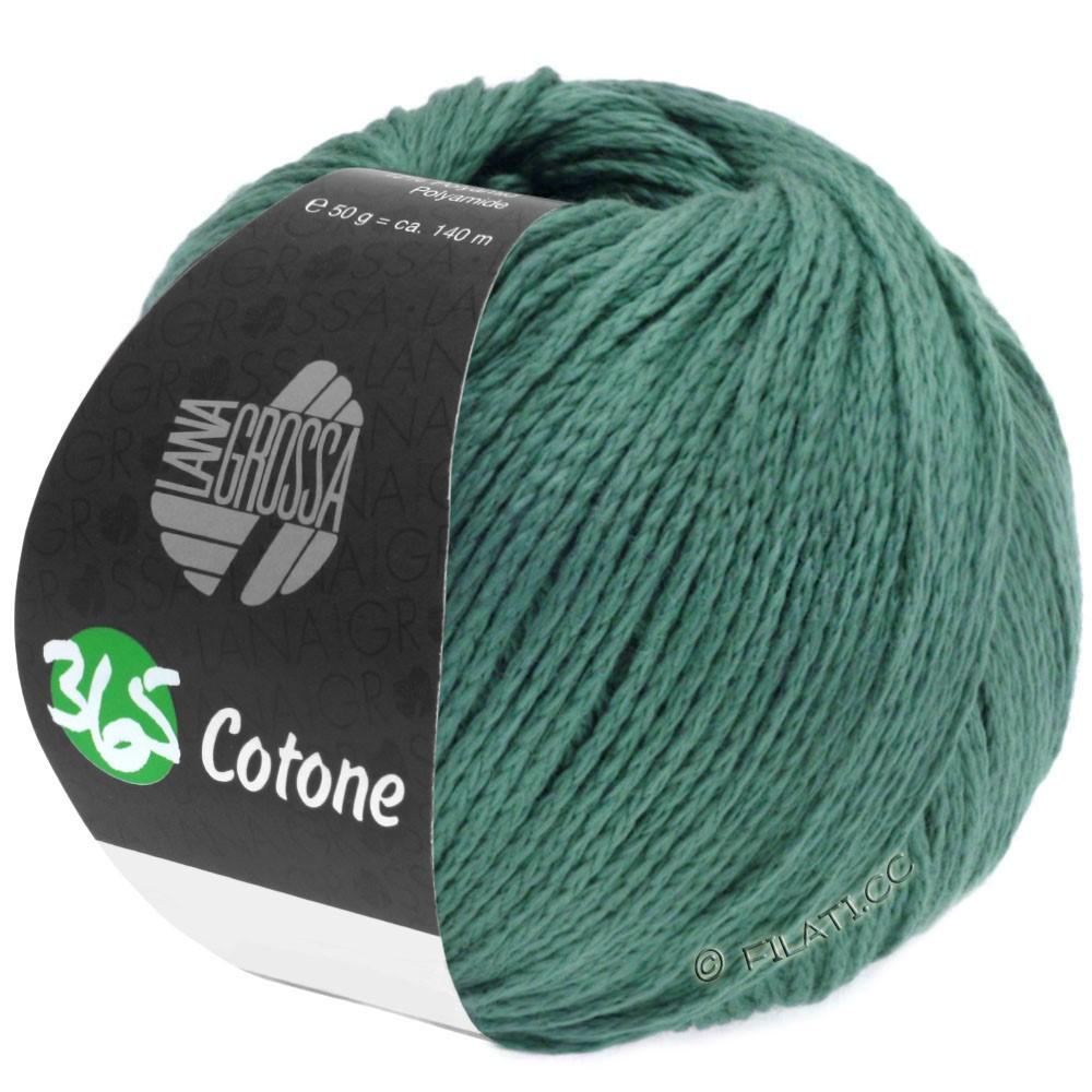 Lana Grossa 365 COTONE   45-тёмно-зелёный