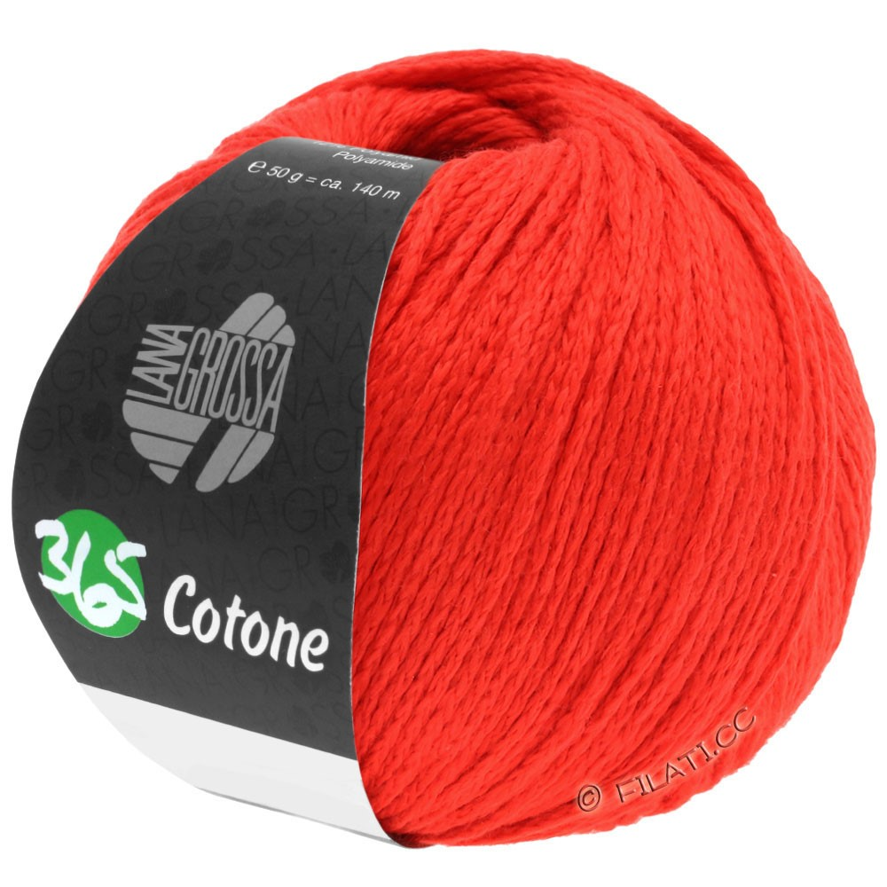 Lana Grossa 365 COTONE | 50-ярко-красный