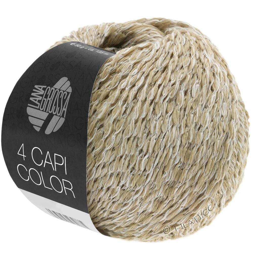 Lana Grossa 4 CAPI Color | 101-белый/бежевый
