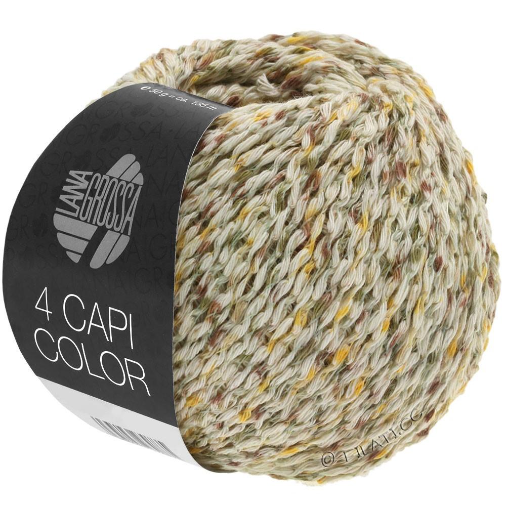 Lana Grossa 4 CAPI Color | 102-натуральный/жёлтый/хаки/коричневый