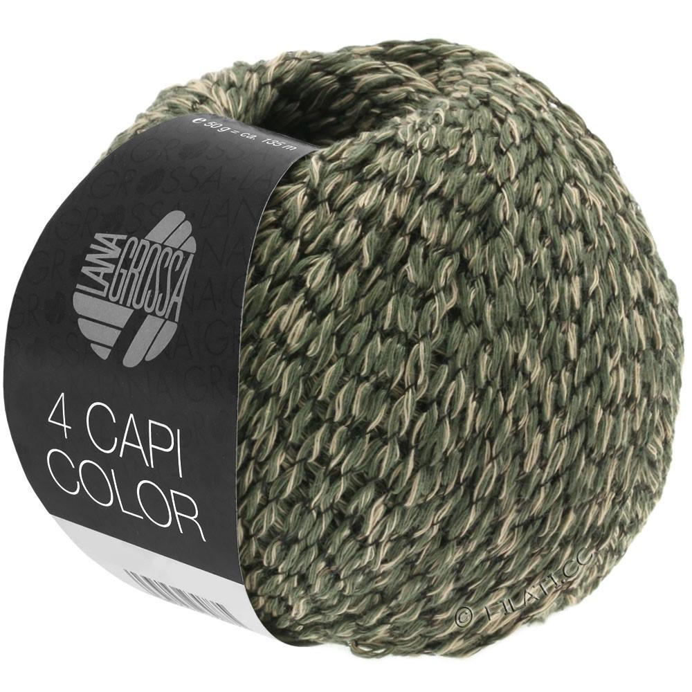 Lana Grossa 4 CAPI Color | 103-песок/блекло-зеленый