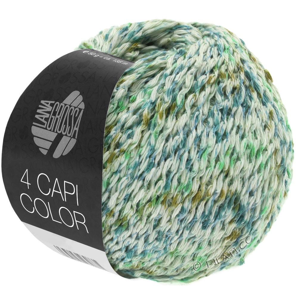 Lana Grossa 4 CAPI Color | 104-натуральный/нефритово-зеленый/бирюзовый/оливковый