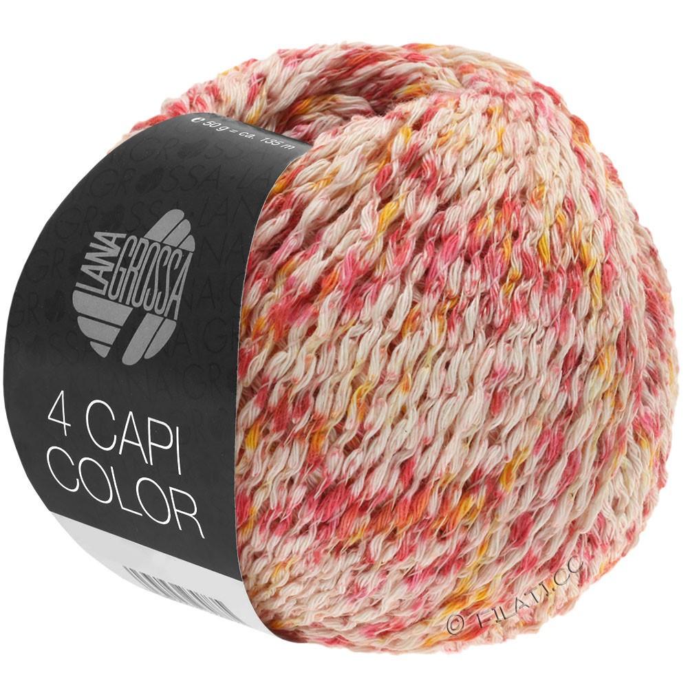 Lana Grossa 4 CAPI Color | 105-натуральный/красный/желтое солнце/пинк