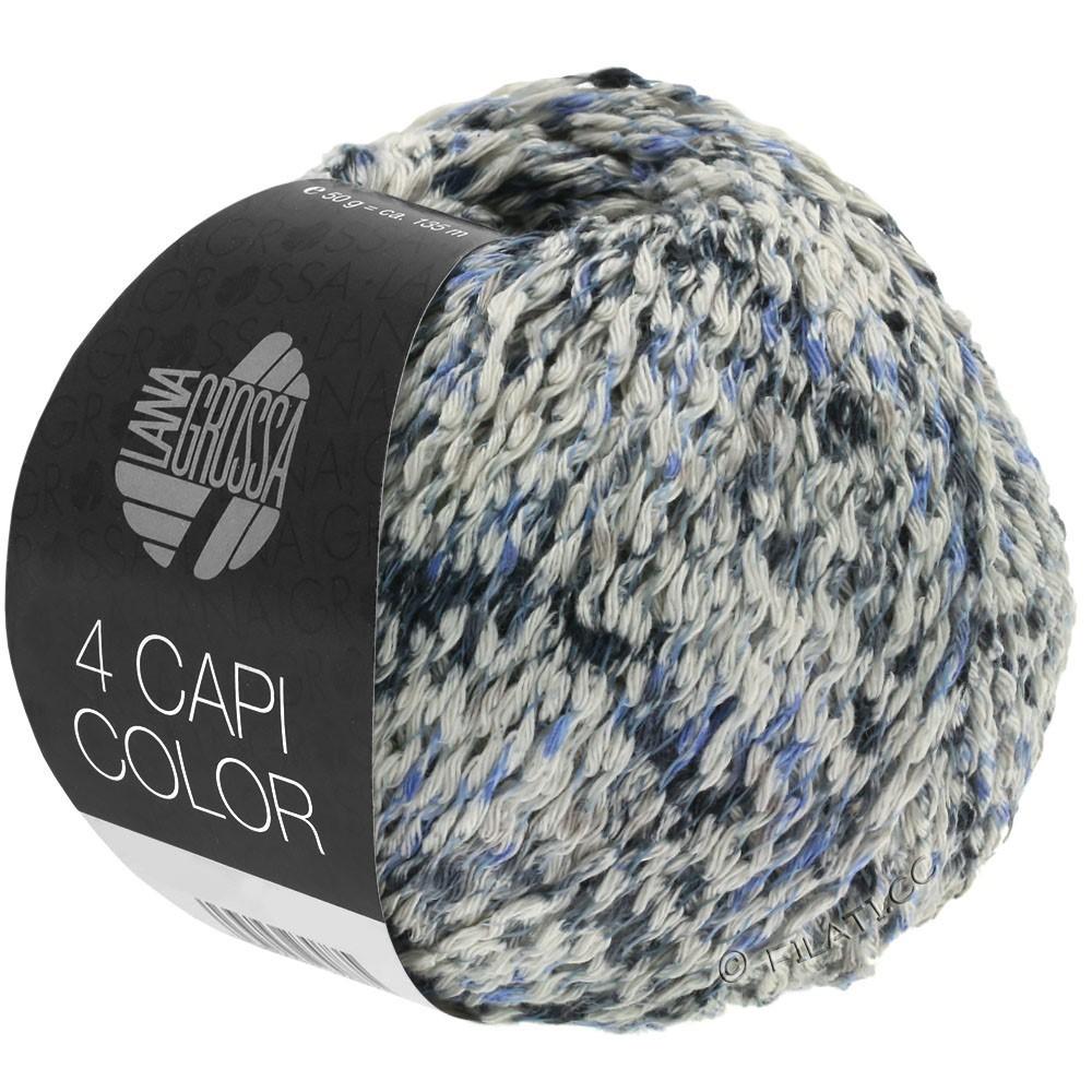 Lana Grossa 4 CAPI Color | 107-натуральный/джинс/тёмно-синий/серый