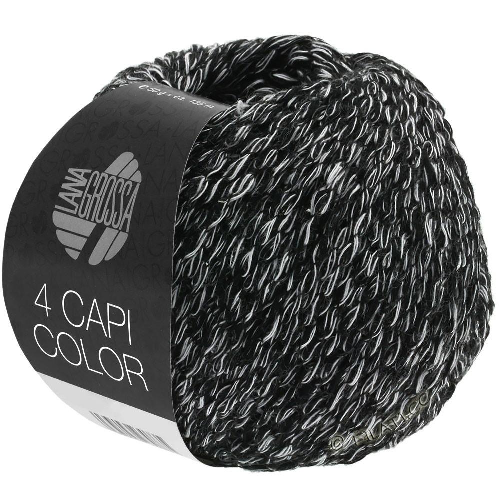 Lana Grossa 4 CAPI Color | 108-чёрный/белый
